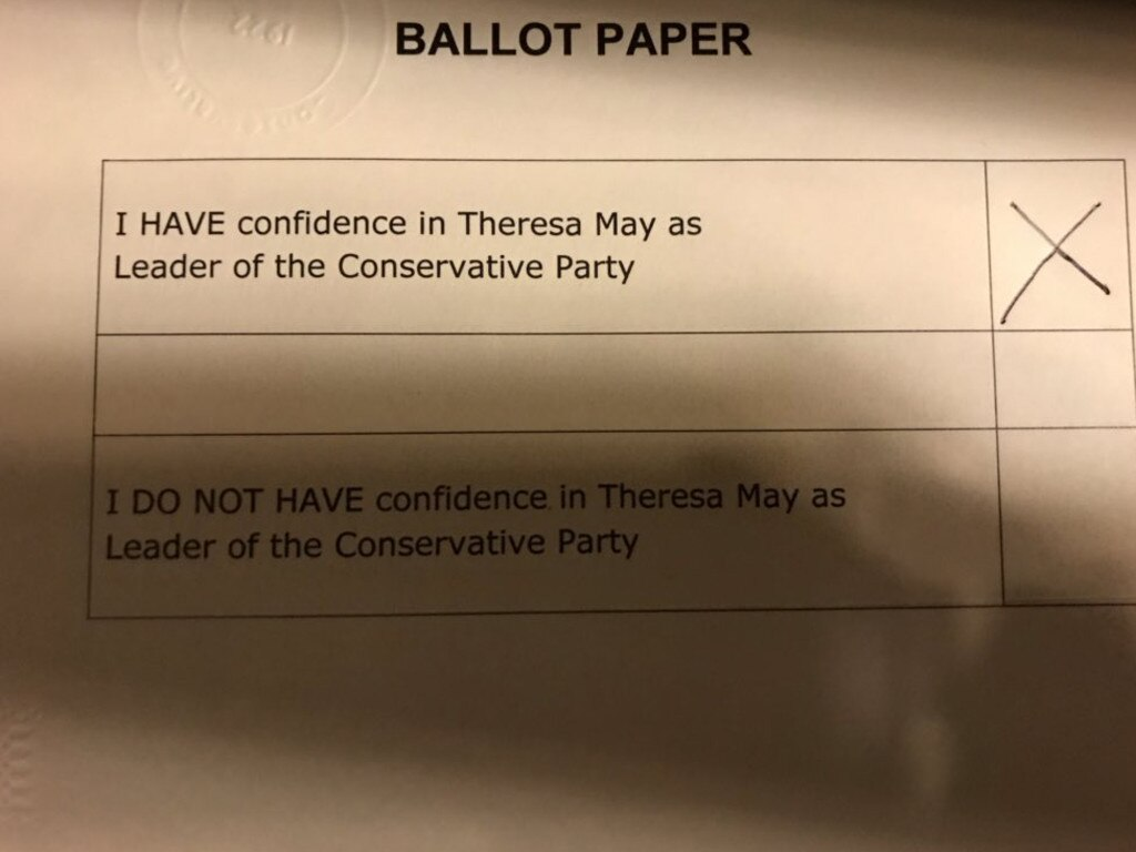 Tory MP Sarah Wollaston shared this picture of her completed ballot paper.
