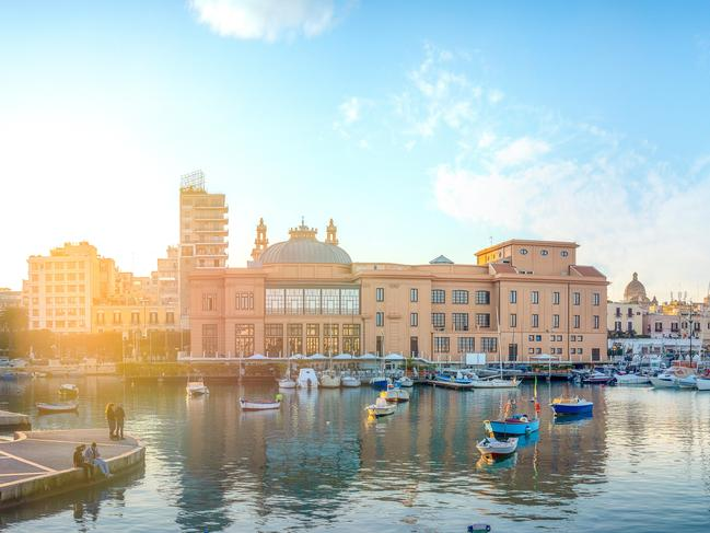 TO-DO LIST Check out the ornate Teatro Piccinni, art nouveau Teatro Margherita (pictured), thriving night-life scene and cleaned-up nearby beaches. Picture: Dimitar Chobanov / Alamy Stock