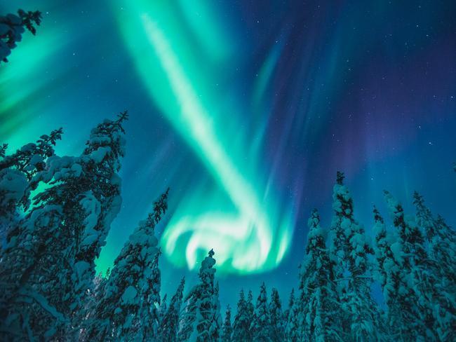 Northern Lights, Lapland Image courtesy Kakslauttanen Arctic Resort, Finland