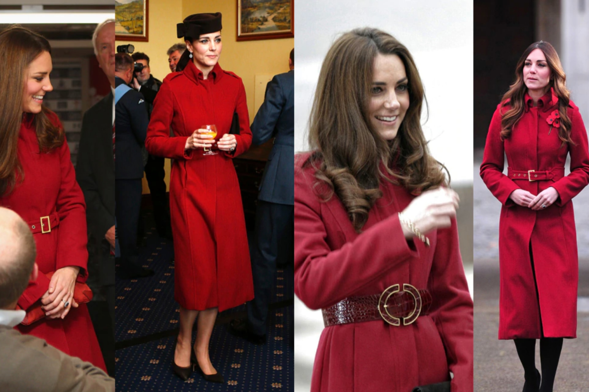 Every time Kate Middleton has recycled her outfit