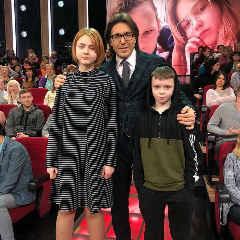 Darya, 13, and Ivan, 10, appeared on TV with their parents' permission. Picture: East 2 West News/Australscope. Source: Australscope