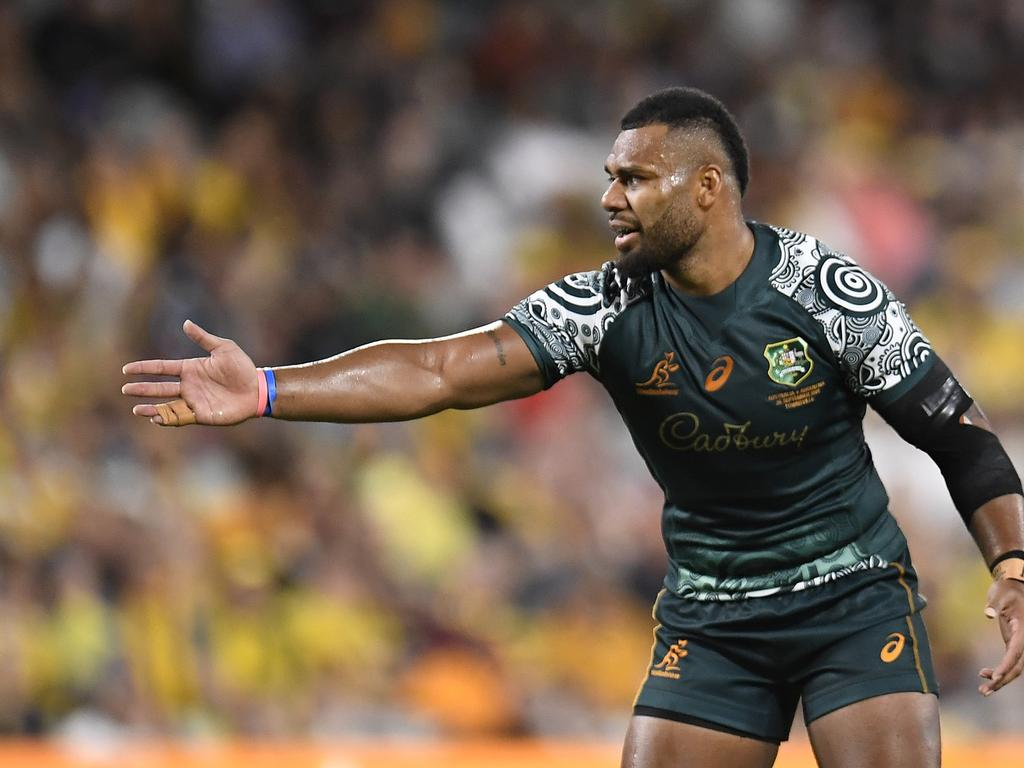 Samu Kerevi has starred in recent matches for the Wallabies. Picture: Ian Hitchcock / Getty Images