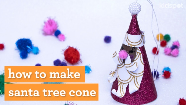 Create a cute tree topper with this fun and easy craft activity.