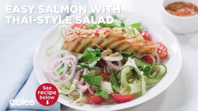 Easy salmon with Thai-style salad thumbnail