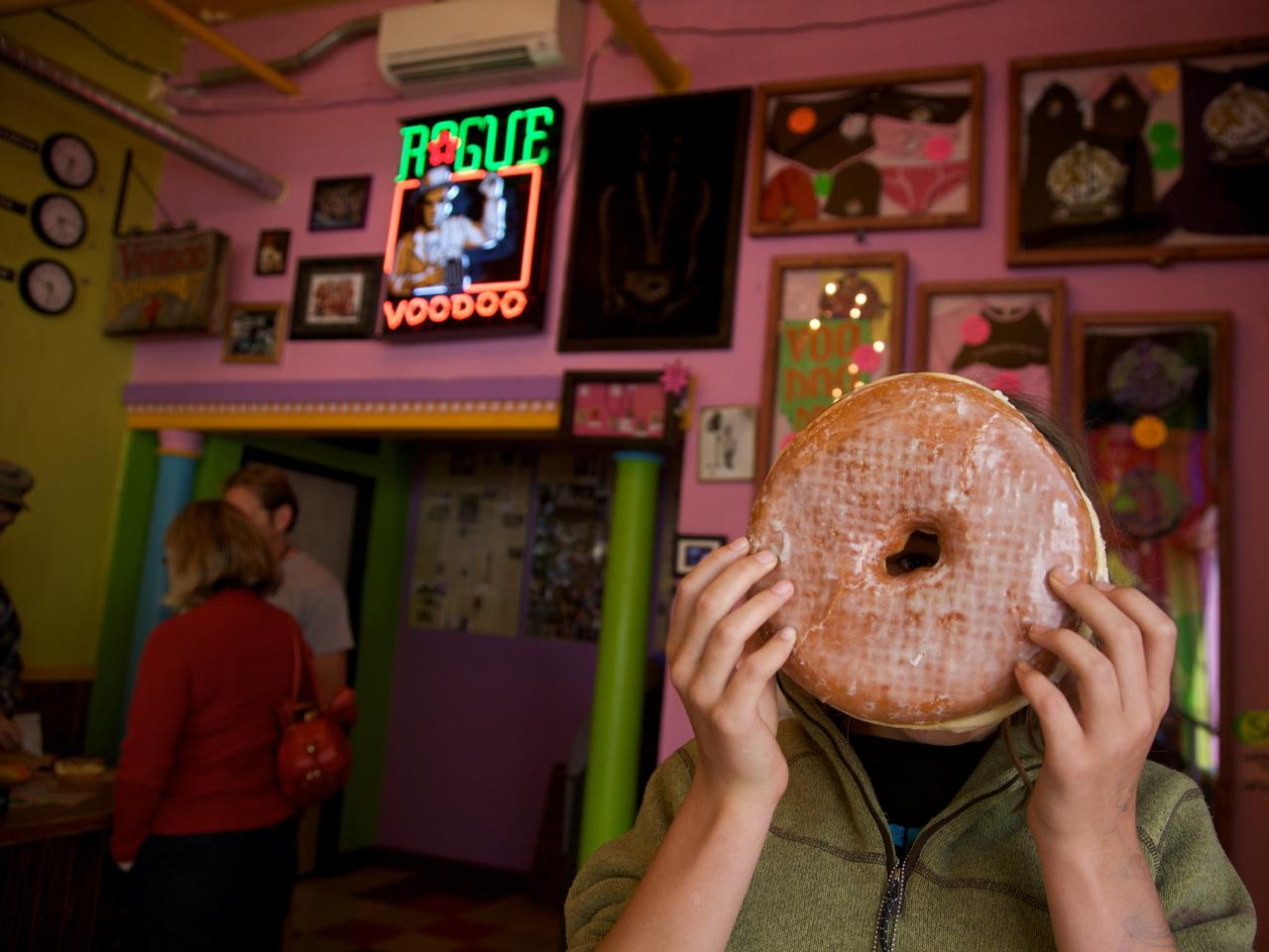 ESCAPE: THE OTHER USA .. Portland, Oregon - Voodoo donuts. Picture: Supplied