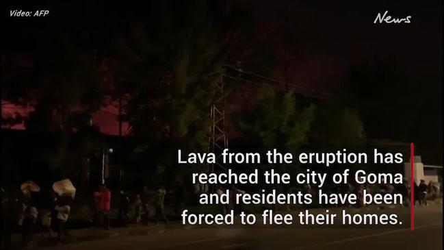 Thousands flee after volcano erupts in Democratic Republic of Congo