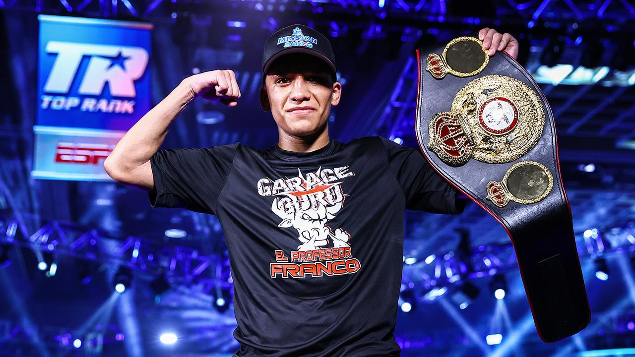 Joshua Franco will be defending his WBA Super-Flyweight World Title. (Photo by Mikey Williams/Top Rank via Getty Images)