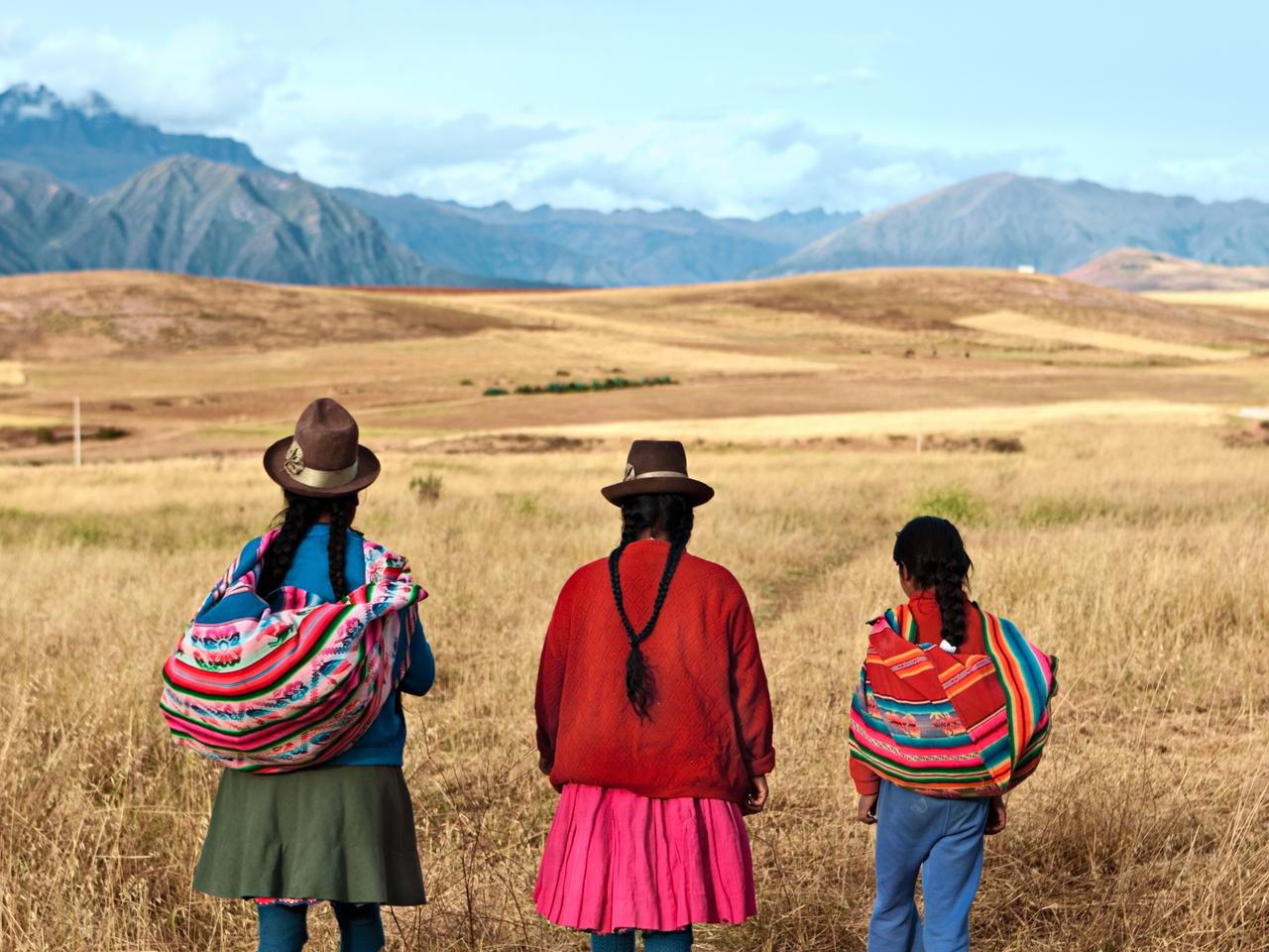 Peruvian women in national clothing, The Sacred Valley, Peru
