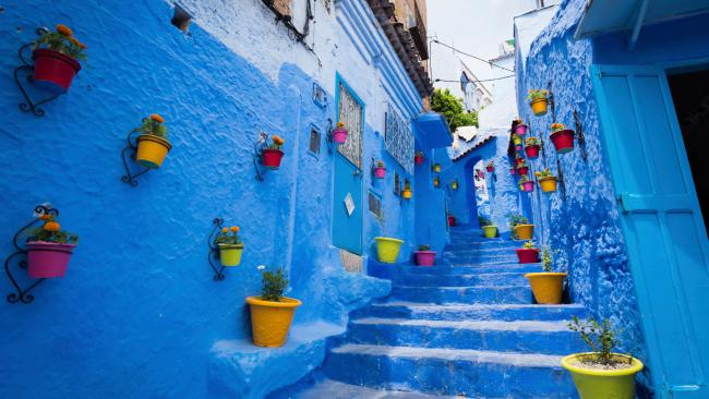 There are many theories as to why the walls are painted blue. Some say it's a Jewish custom to represent the sky (and thereby heaven) and others think it's a way to keep it cool. All we know for sure is that it is worth a stop by in Morocco. If you're heading there soon, we've listed our favourite Morocco tours here.