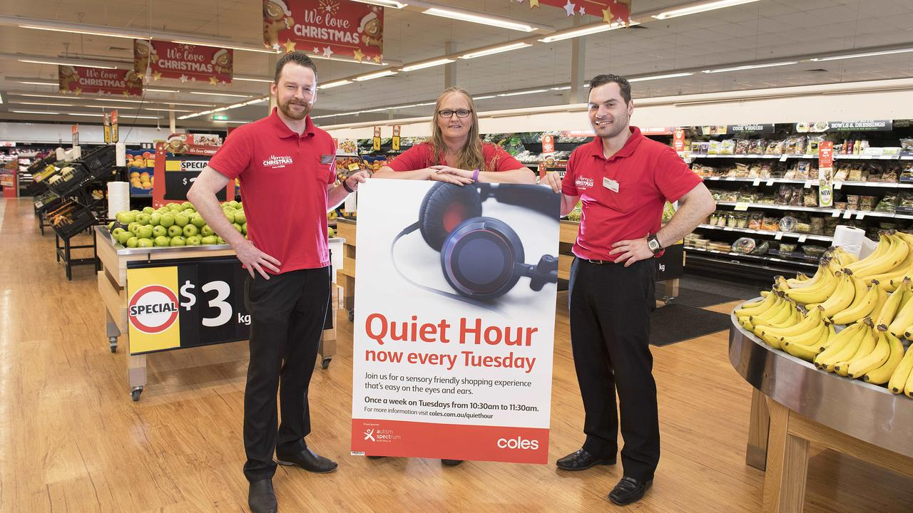Coles offers Quiet Hour at its Essendon Fields store in Victoria. Picture: Ellen Smith