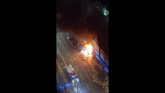 'Severe Blaze' at London Launderette