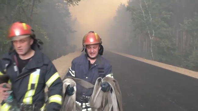 Fire Crews Tackle Forest Fires in Eastern Ukraine as Five Confirmed Dead