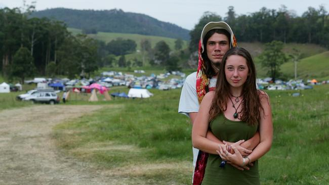 NSW pair Jade and Dylan were at the Mount Lindesay rave. Picture: Mark Calleja