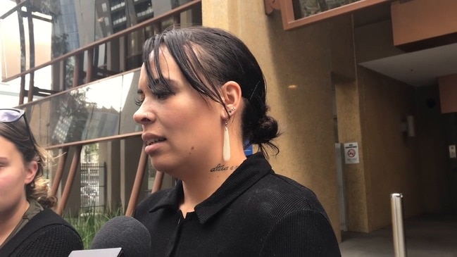 Mother speaks outside the coronial inquest into her 11-month-old son's death