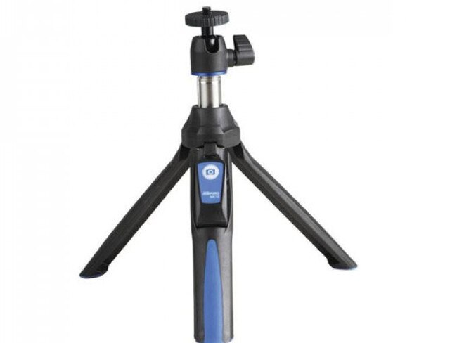 BK10 SELFIE STICK & MINI TRIPOD W/BLUETOOTH REMOTE, $49.95 FROM BENRO This 2-in-1 mini tripod and selfie stick saves on space while still allowing its users to capture all their holiday highlights. It's suitable for smartphones, GoPros, and most digital cameras.