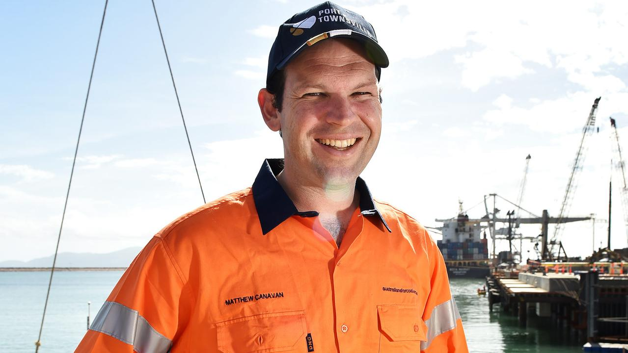 Senator Matt Canavan pictured at the Townsville Port talking about the North.