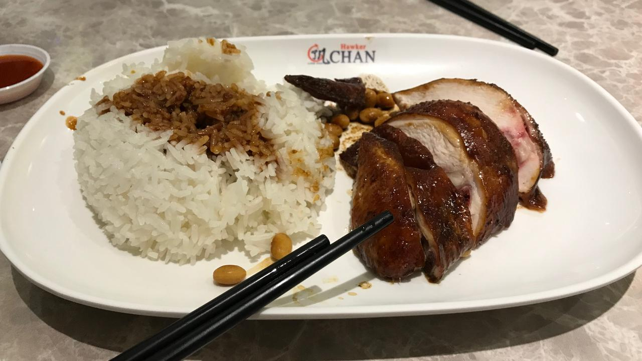 Good, honest, non-pretentious soul food: the famous soya chicken rice at Hawker Chan.