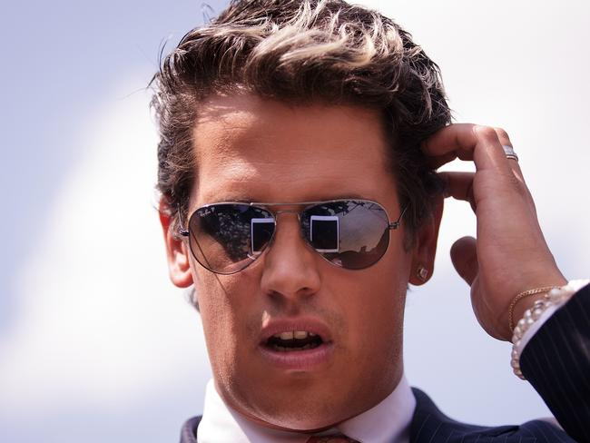 Milo Yiannopoulos, a conservative columnist, has been uninvited from the Conservative Political Action Conference. Picture: AFP/Getty Images/Drew Angerer