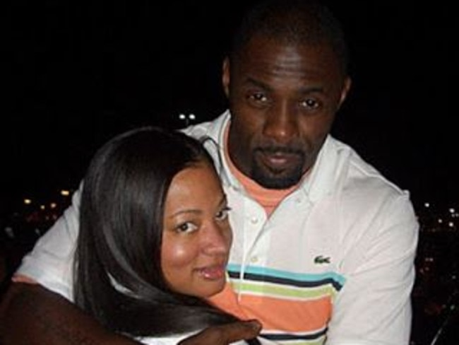 In happier times ... Idris Elba and Sonya Hamlin were briefly married. Picture: Supplied