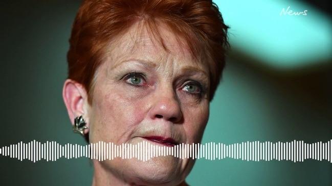 Pauline Hanson breaks down in tears talking about dairy farmers (2GB)