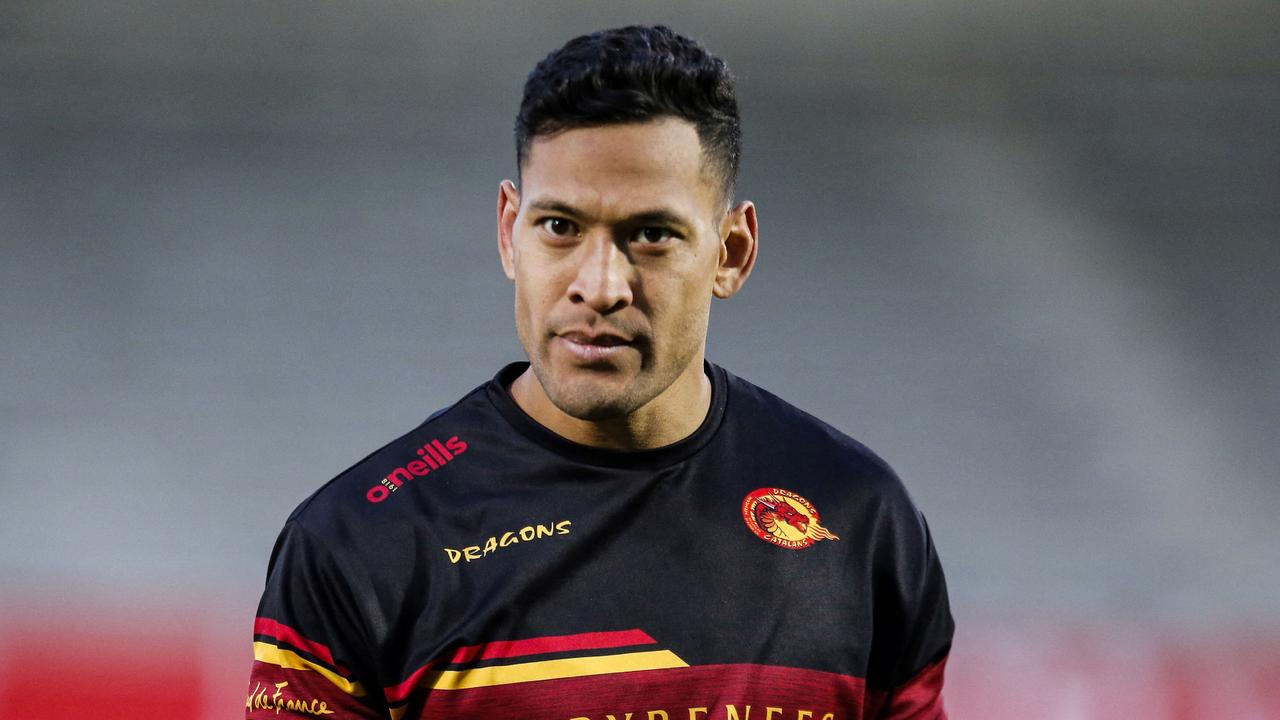 Israel Folau is heading to Japan to play rugby. Picture: AFP