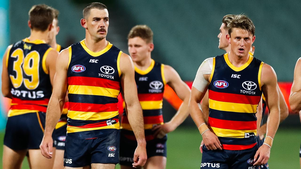 Adelaide's Taylor Walker has spoken out about threats from fans. (Photo by Daniel Kalisz/Getty Images)