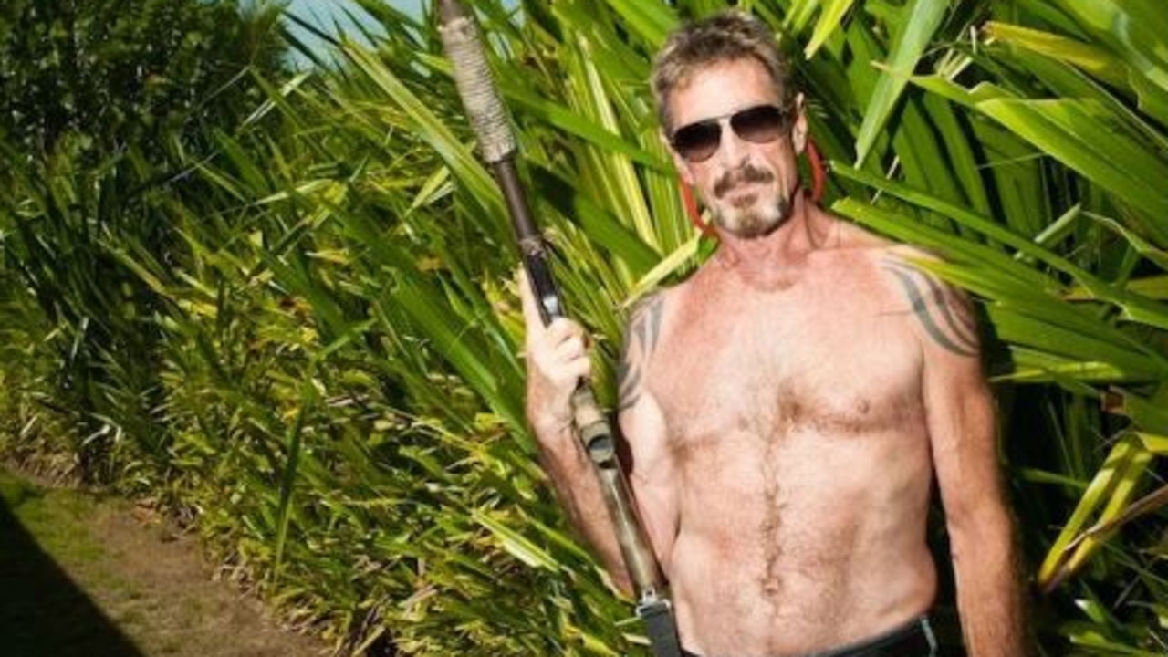 John McAfee fled Belize in 2012 after the death of his neighbour. Picture: Showtime