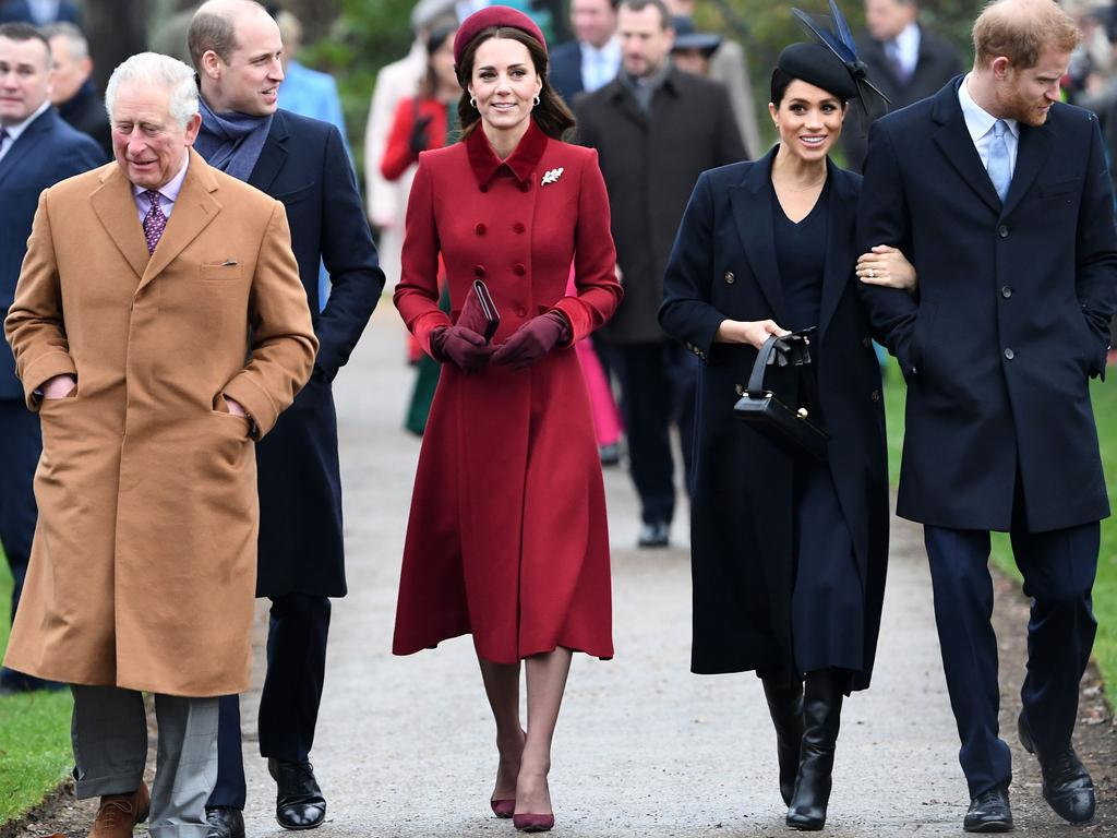 The so-called fab four, with Prince Charles, were reportedly driven apart by a rift between the two brothers. Picture: Paul Ellis/AFP.