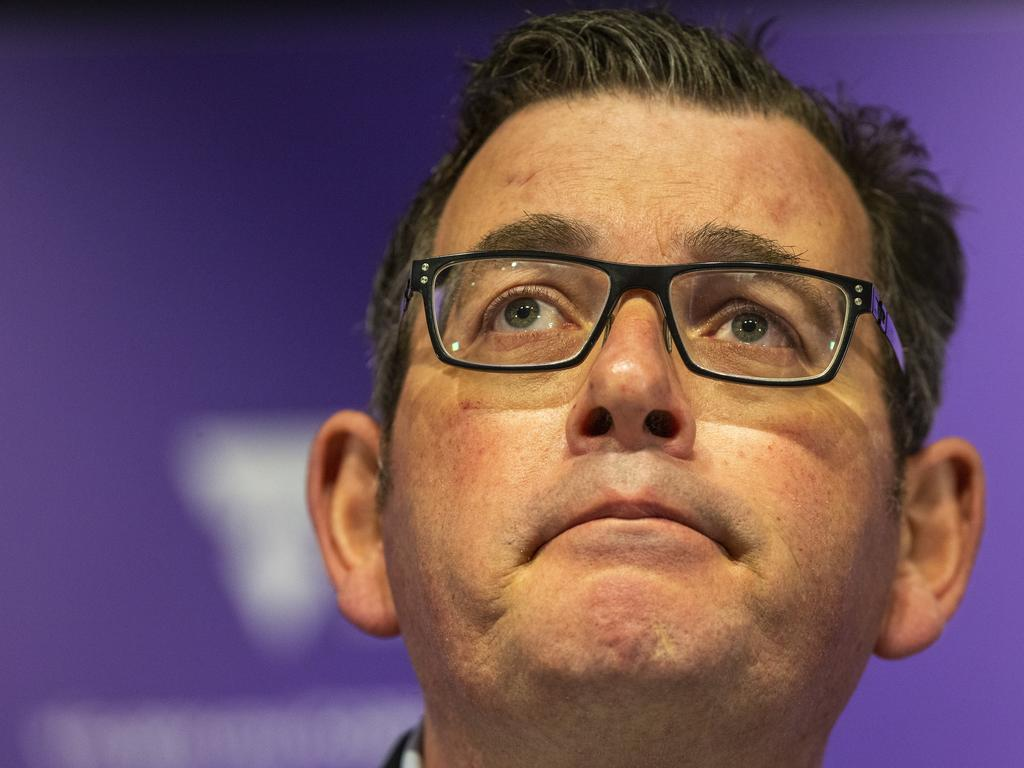 Victorian Premier Daniel Andrews announces a further 134 virus cases in Victoria. Wayne Taylor/ NCA NewsWire
