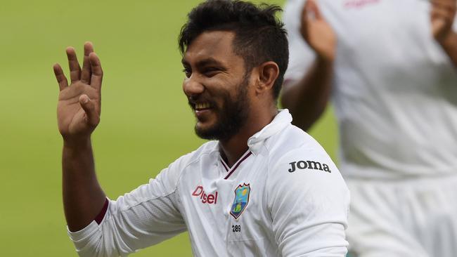 West Indies' spinner Devendra Bishoo took eight wickets in the second innings against Pakistan.