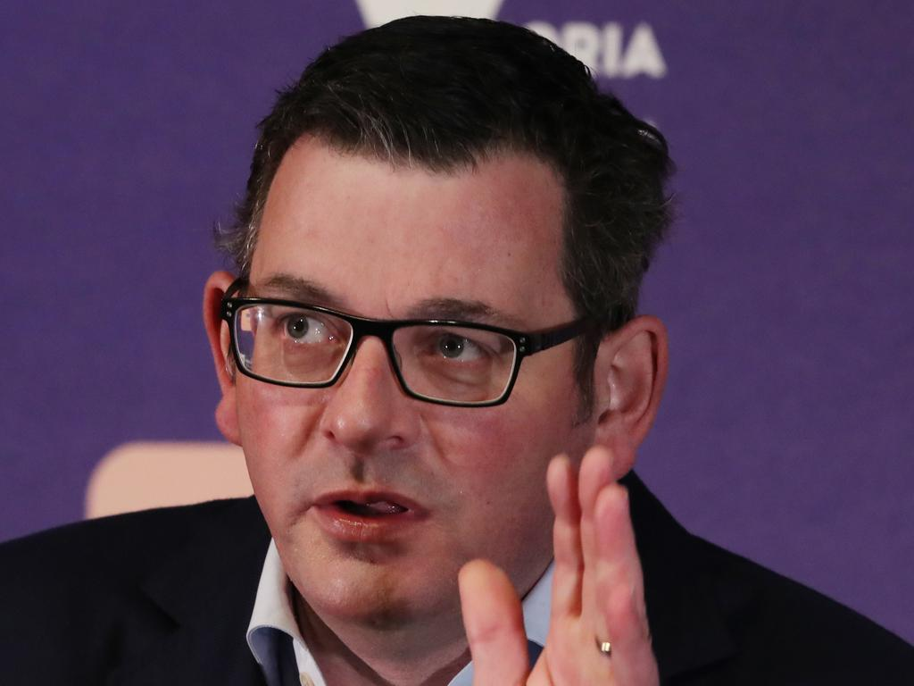 Premier Daniel Andrews expressed frustration over the celebration but called for calm. NCA NewsWire / David Crosling