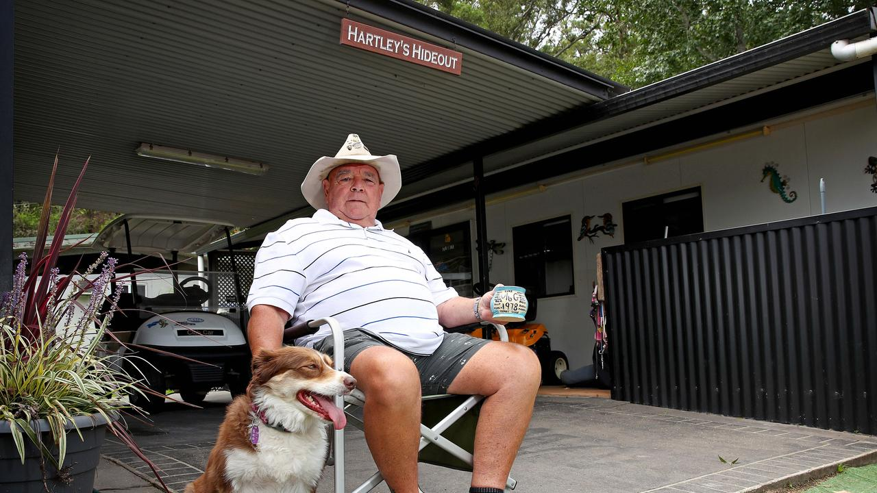 Hartley sold his properties and set up at 'Hartley's Hideout'. Picture: Toby Zerna.