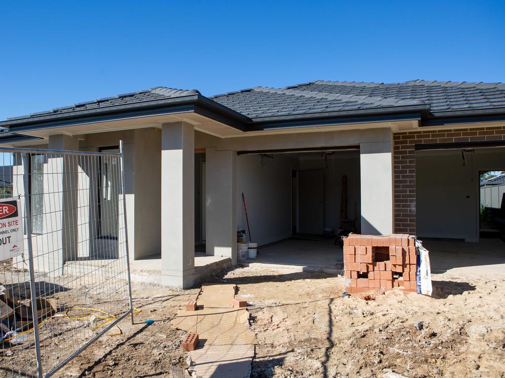 One affordable housing project in Jordan Springs is underway. (AAP IMAGE/Jordan Shields)