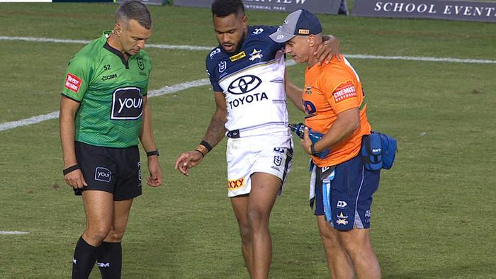 Hamiso Tabuai-Fidow went off with an ankle complaint.