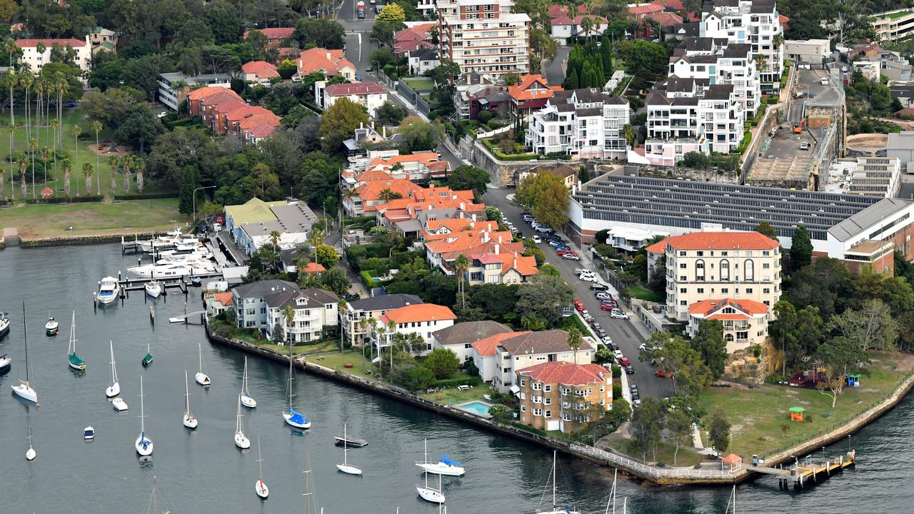 Waterfront properties in Sydney. Picture: AAP