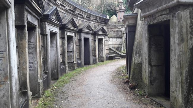 London - Highgate - United Kingdom - November 20, 2017. The tombs are built around the roots of an ancient cedar of Lebanon tree, from which the Circle gets its name.