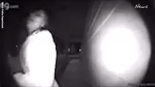 Terrifying moment young woman is allegedly kidnapped