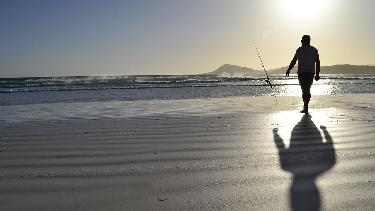 Parks for People: Zoe Fletcher's photo of her husband fishing at Lucky Bay in Cape Le Grande National Park in Esperance