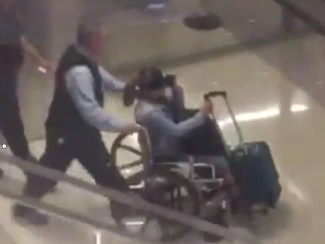 A video still believed to be Marilou Danley, girlfriend of the Las Vegas gunman Stephen Paddock, arriving at Los Angeles Airport. Picture: Supplied/ NBC Twitter