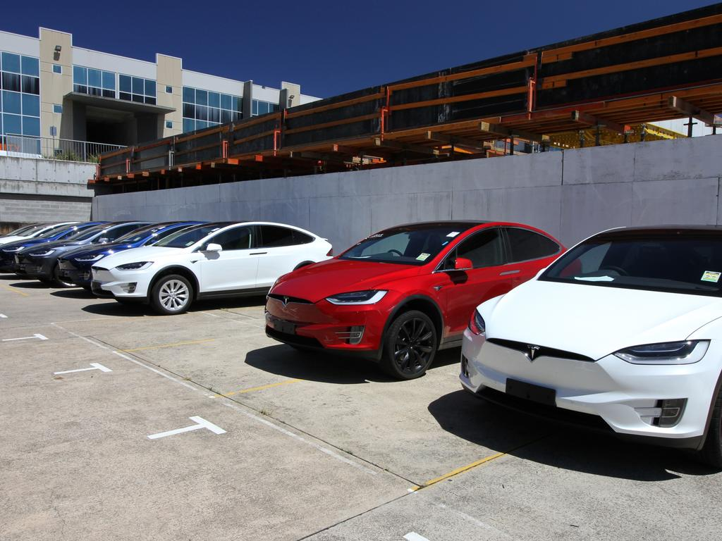 The fleet of Tesla limousines includes a mix of sedans and SUVs. One of Evoke's sedans has clocked up more than 200,000km. Picture: Supplied.
