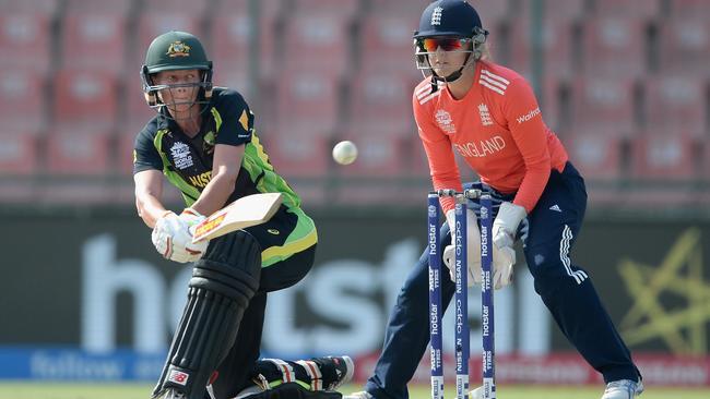 Australia captain Meg Lanning bats during the ICC World Twenty20 earlier this year.