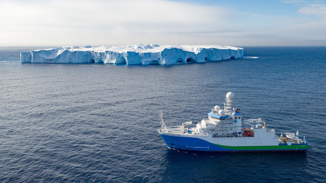 RV Investigator in Antarctica. This is the ship the scientists will travel on for this expedition. Picture: CSIRO Marine National Facility