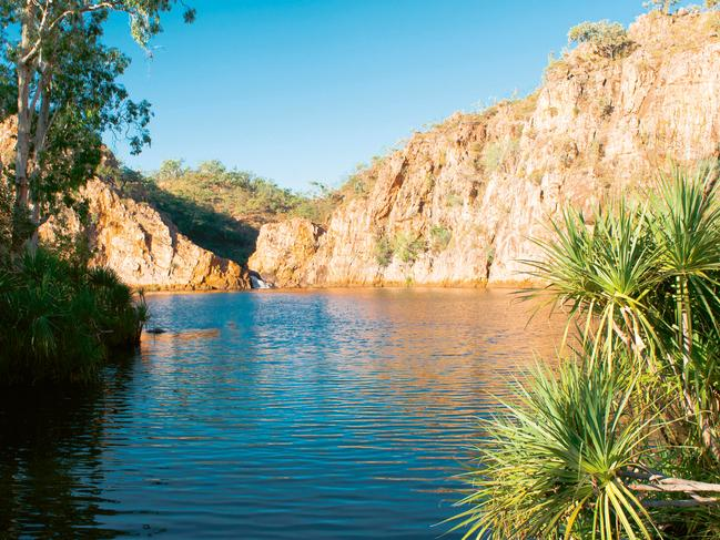 EDITH FALLS, NT — $9PP/NIGHT: Perched on the edge of a series of spectacular swimming holes and water falls, Edith Falls in Nitmiluk National Park is a highly sought-after camping destination. The large, grassy camp area is well-maintained and set out to give campers some space and beautiful views of the surrounding bush. The large bottom pool is a stone's throw from the campground, and it's just 2.6km round trip to the top pools, with great views along the way. For the more adventurous, it's a nice day trip to the secluded Sweetwater pool, where camping is also possible with a permit if you're prepared to lug your overnight gear the 8.6km return journey. The main campground has amenities blocks, a communal campfire, a kiosk selling snacks and meals, and often hosts free entertainment and ranger guided activities. Bookings are possible for Sweetwater, but the main campground is on a first-in first-served basis and numbers are strictly limited so arrive by 10am to secure a spot. The pools can close for parts of the wet season, check the website for details. nt.gov.au/leisure/parks-reserves