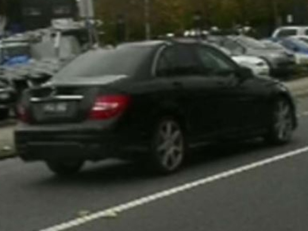 Police are searching for this car, last seen driving east along Springfield Road.