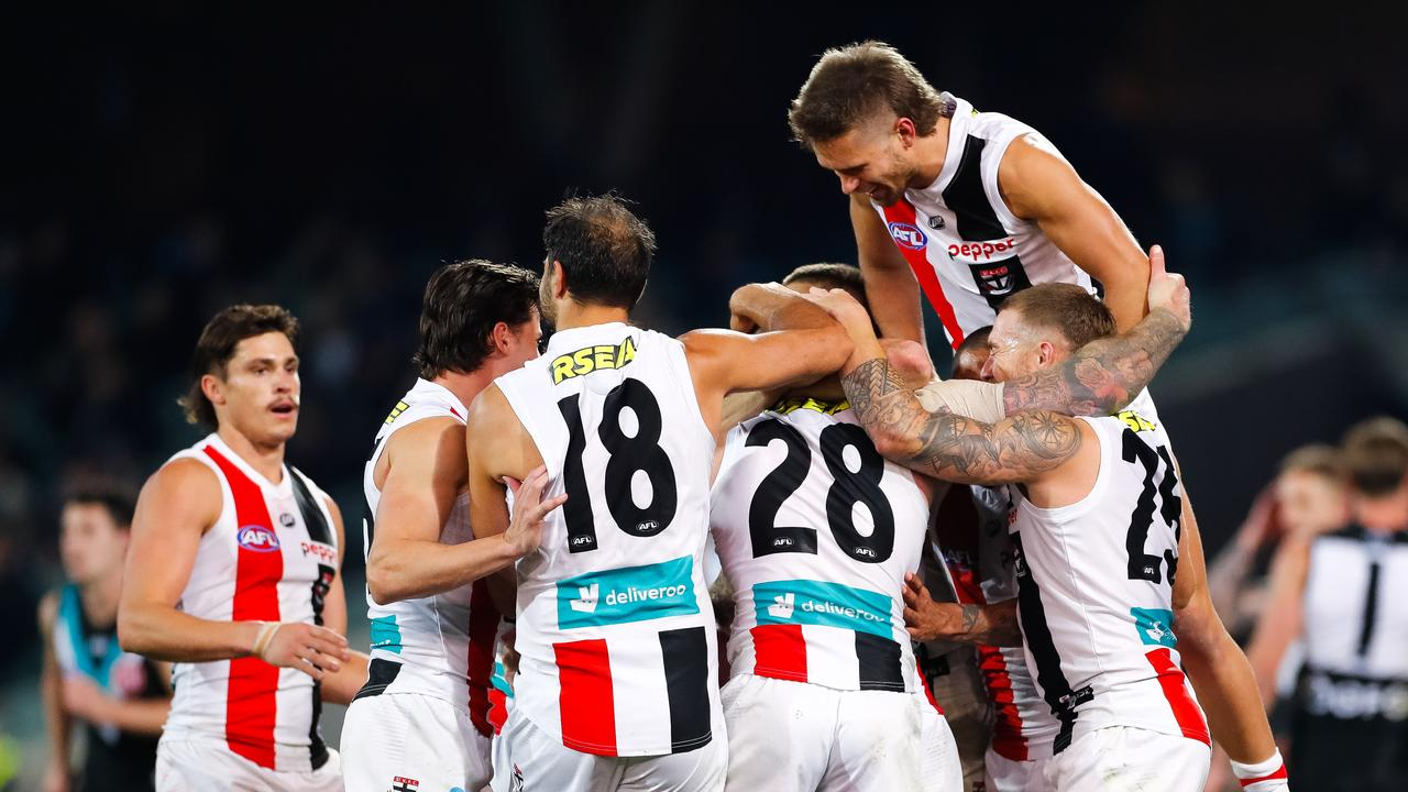 St Kilda booted just one behind in the clash against Port Adelaide. Photo: Daniel Kalisz/Getty Images.