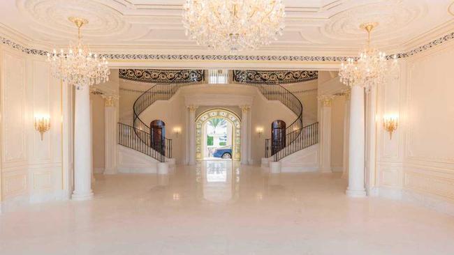 The entrance foyer.