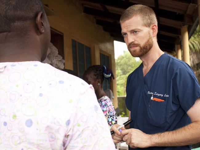 Heroic ... Dr. Kent Brantly became infected with Ebola while working with patients in the Liberian capital of Monrovia. Pic: MAFP PHOTO/SAMARITAN'S PURSE