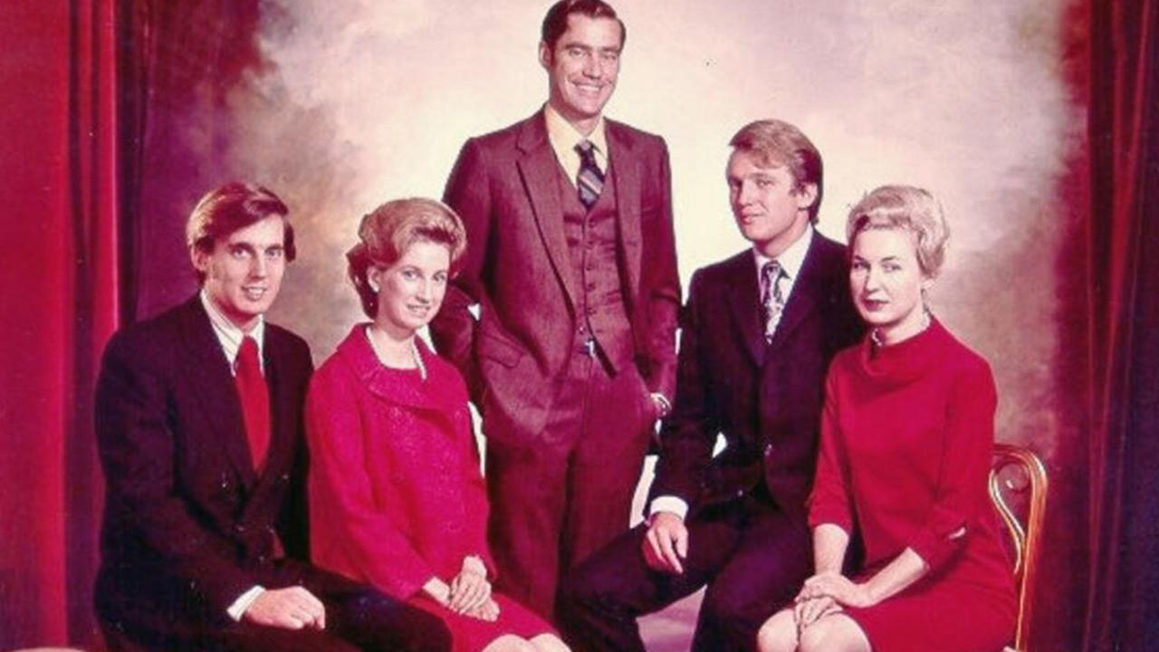 A family photo of the five Trump siblings. From left to right – Robert, Elizabeth, Freddy, Donald and Maryanne.