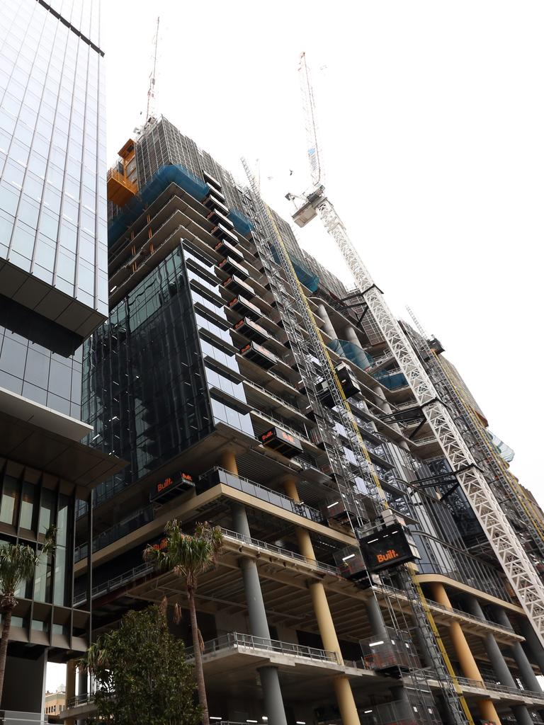 High-rise construction and jobs are expected to take a hit next year. Picture: John Fotiadis.