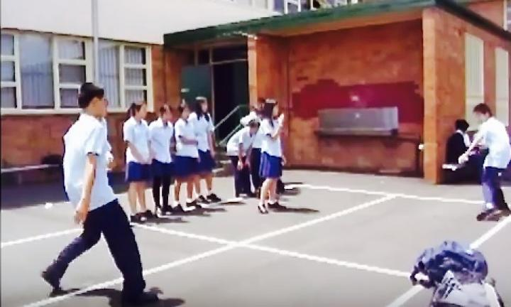 <b>HANDBALL</b><p>Aussie handball is a rite of passage for all primary school kids. But they can play it at home too. All you need is an area of asphalt or paving.  </p><p>With chalk, mark out four squares on the ground that touch each other to make one large square.</p><p>Each player stands in a square which has a rank order. Highest rank is King, then queen, prince and joker.</p><p>The King starts the game by bouncing the ball in his square once and then hitting it into one of the other player's square.</p><p>The receiving player then bounces the ball in their own square and  hits the ball into the square of any other player.</p><p>If the ball bounces in a player's square they must hit it or they are out.</p><p>When a player is out, he moves into the lowest ranking square (joker) and all other players move up to fill in the gaps.<p><a href='https://www.youtube.com/watch?v=8RkmB8WHljI'>Image via youtube</a></p></p>